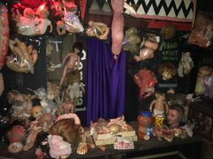 One of the gruesome sculptures put on at the Haunted Kinetic Lab of Horrors on Oct. 28. Photo credit: Juan Herrera