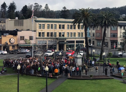 Protest for gun control leads Arcata High students to walk out