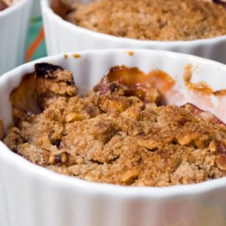 Rhubarb Apple Crisp with Toasted Hazelnut Streusel