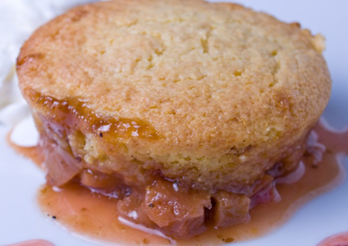 Fresh Rhubarb Roundup: Rhubarb Cornmeal Upside-Down Cake