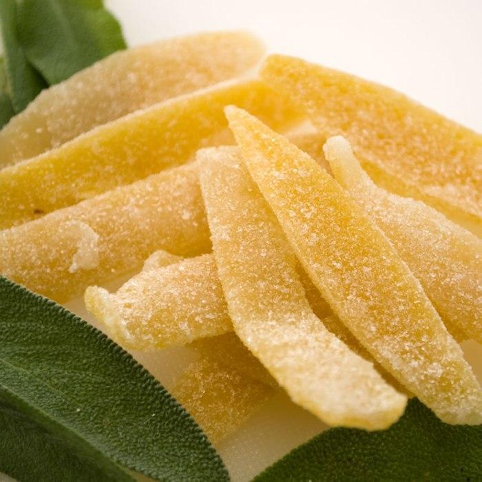 Candied Lemon Peel and Fresh Sage