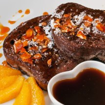 Bittersweet Chocolate French Toast for Lovers