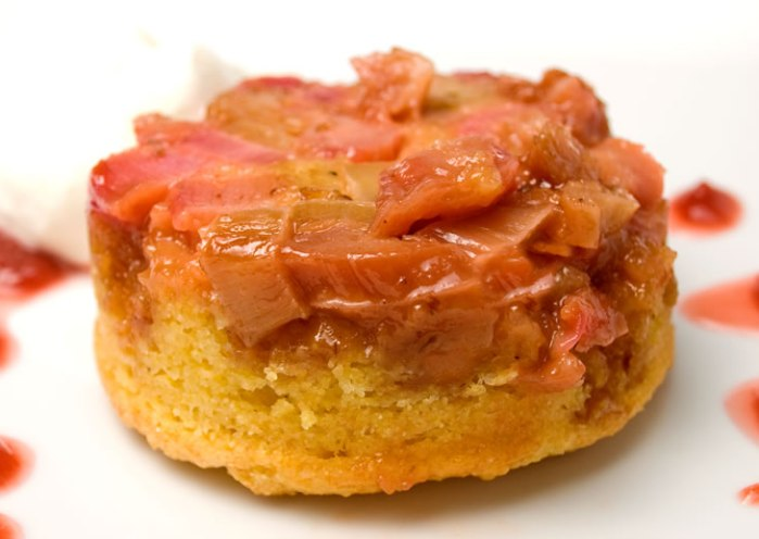 Rhubarb Cornmeal Upside-Down Cake
