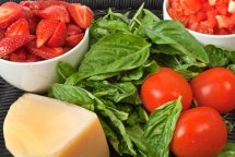 Fantasy Chopped Dessert Challenge: Strawberries, Tomatoes, Parmesan & Basil