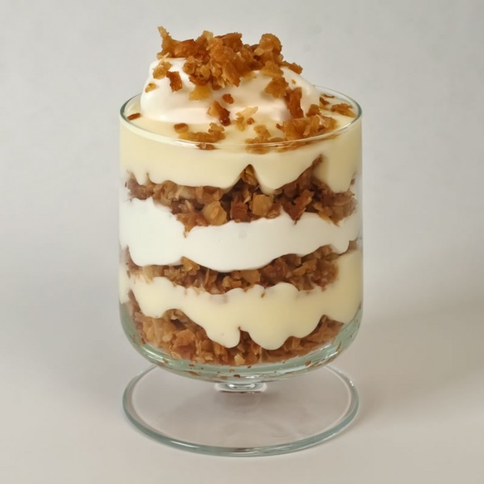 Ultimate Vanilla Pudding with Coconut Crumble & Whipped Cream   LunaCafe