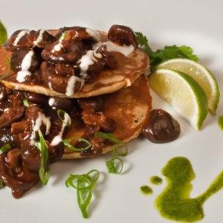 Baby Shiitake Mushrooms with Ancho Chile Sauce