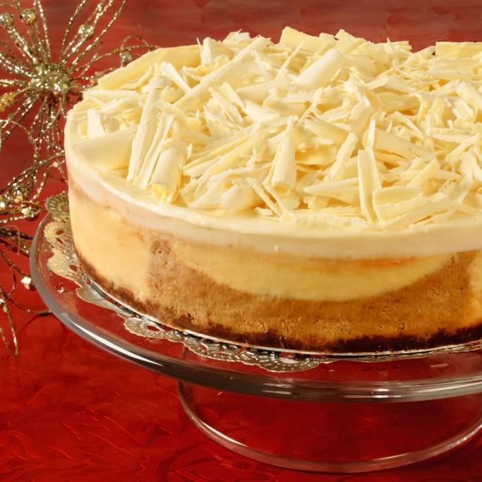 Pumpkin Spice & White Chocolate Cheesecake