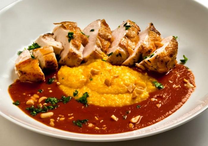 Breast of Chicken with Fiery, Fruity Guajillo Sauce