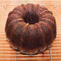 Chocolate Ginger Chipotle Stout Cake on Cooling Rack