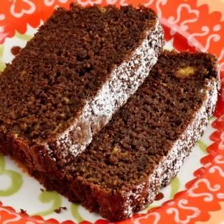 Spicy Chocolate, Banana & Fresh Ginger Tea Loaf
