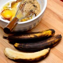 Preparing the Batter for Spicy Chocolate, Banana & Fresh Ginger Tea Loaf