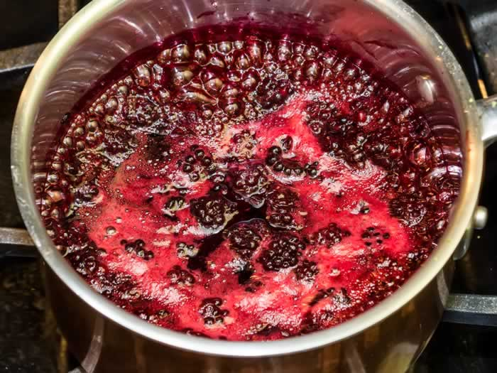 Blackberry Lime Syrup with Star Anise