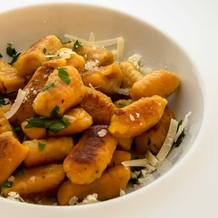 Pumpkin Ricotta Gnocchi with Garlic Sage Butter