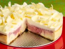 Marbled Spiced Cranberry & White Chocolate Cheesecake