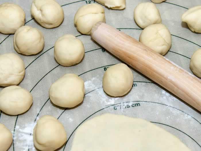 Asian Pancake Shaping Step 2
