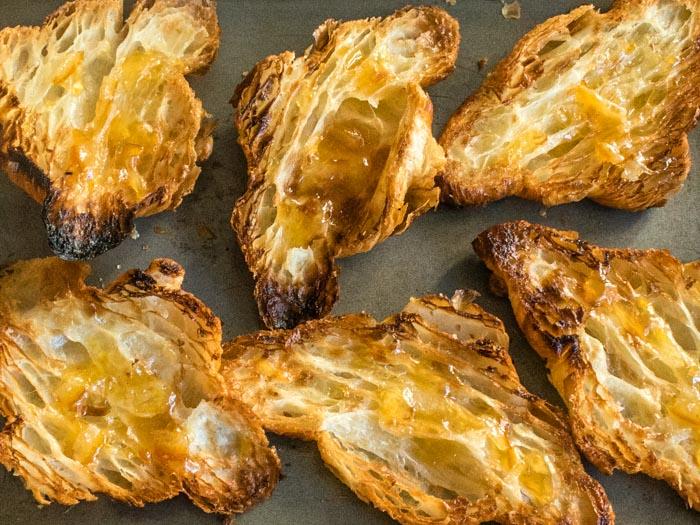 Rhubarb Orange-Rosemary Croissant Pudding | LunaCafe