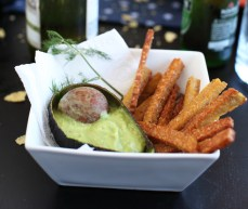 Tempeh Fries with Dill Avocado Dip