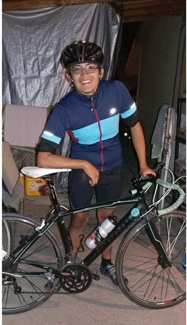 Gabe Chavez bikes to Fresno from CSUMB