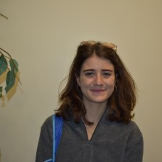 """Elisa Liberati, Marine Science. """"I really like the Marine Biology program here and I like how it's so close to the beach. I like the overall vibe of the campus, it seems like a community oriented place and I wanna make friends and talk to people."""""""