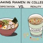 Making ramen in college