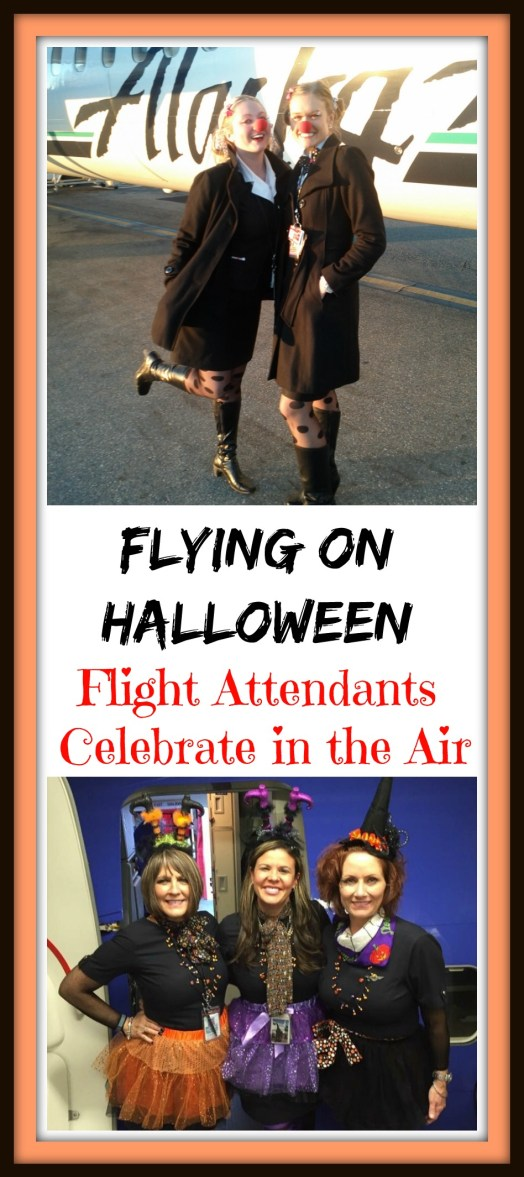 Flight Attendants show their Halloween spirit while flying in costume on the Holiday