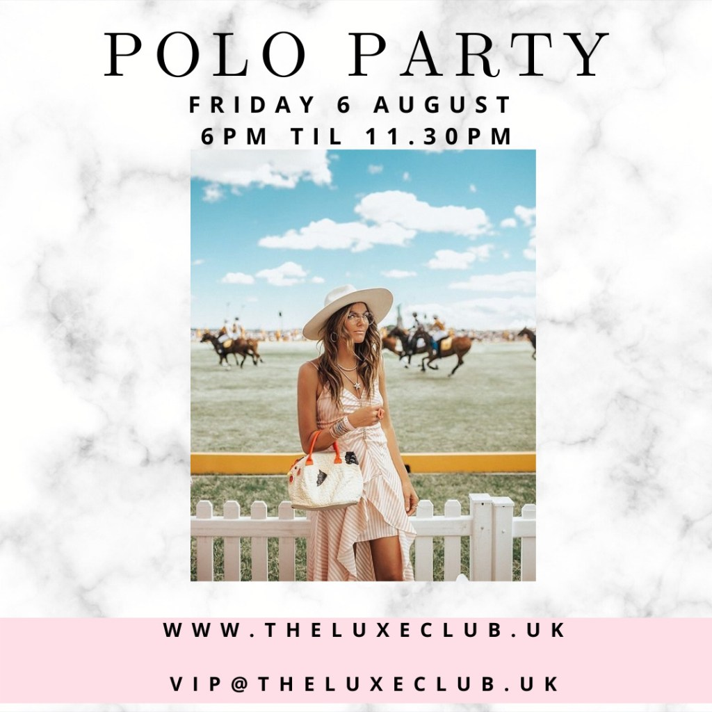 Exclusive Polo Party with polo match, drinks, BBQ and DJ