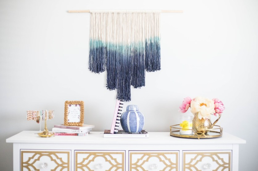 LUX Magazine Hand-Dipped-wall-hanging 'A Pretty Penny' by Sara Anderson