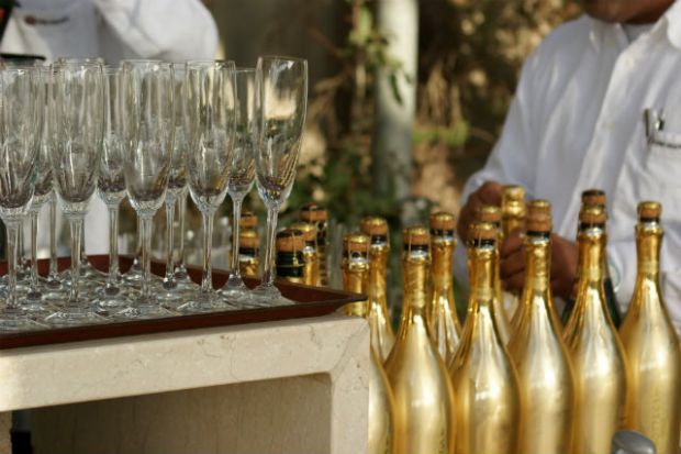 Champagne at Cassa Dell'Aarte