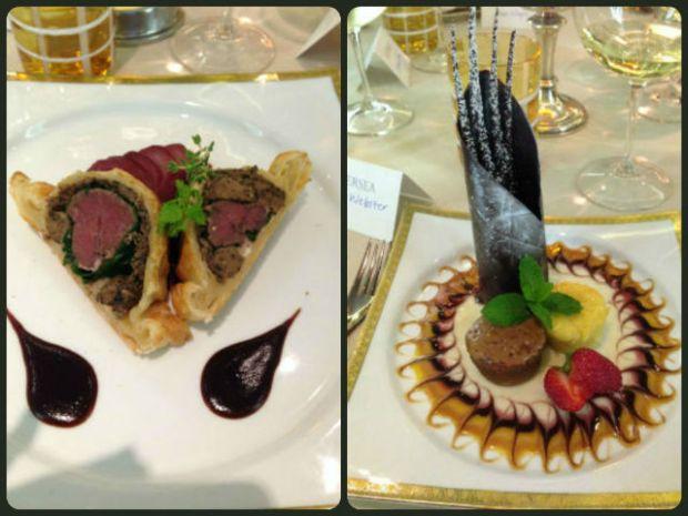 Silver Cloud Le Champagne Restaurant Main Course & Dessert