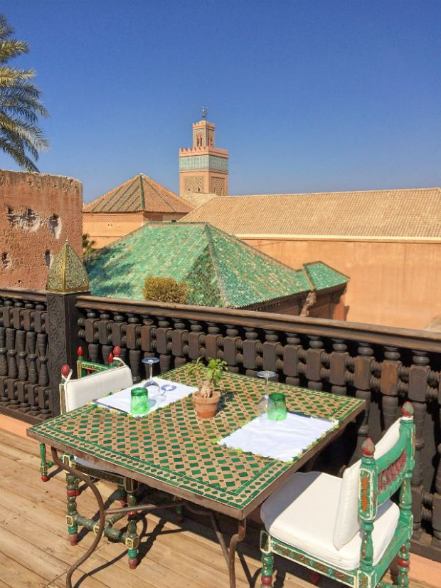 LUNCH - roof terrace with view 1