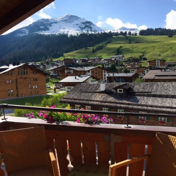 Hotel Gotthard guest room view