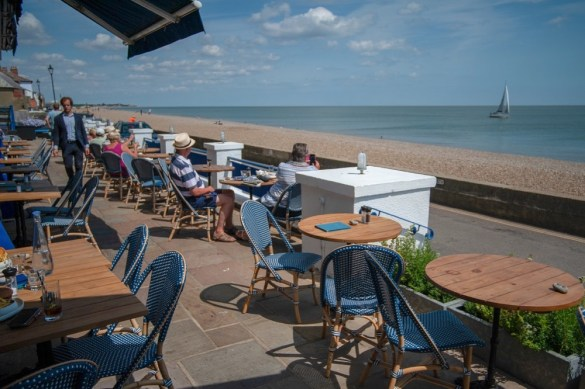 Sea facing terrace at the Brudenell Hotel, Aldeburgh (med)