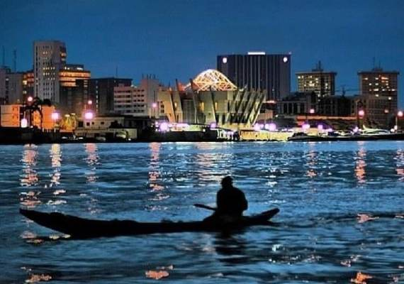 A night view of Lagos City