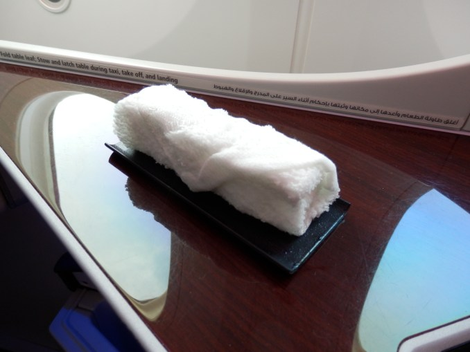 HOT TOWEL AFTER COMPLETION OF BOARDING