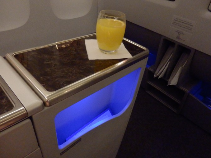 ORANGE JUICE OFFERED UPON BOARDING