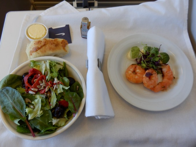 STARTER: TIGER PRAWNS AND SALAD