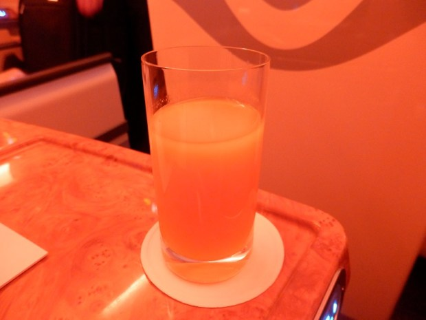BEFORE TAKE OFF: ORANGE JUICE
