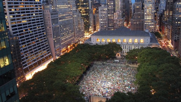 WATCH A MOVIE UNDER THE STARS IN BRYANT PARK