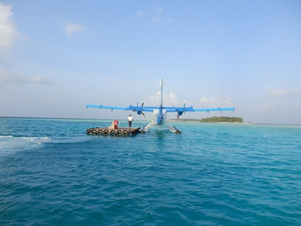 WATERPLANE PLATFORM NEAR RESORT