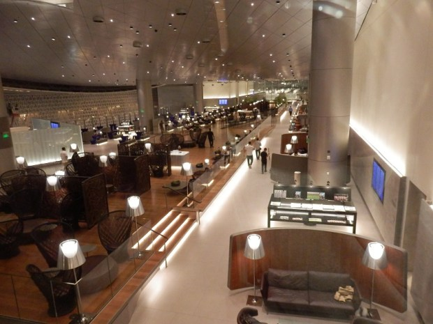 AL MOURJAN BUSINESS LOUNGE: VIEW FROM RESTAURANT