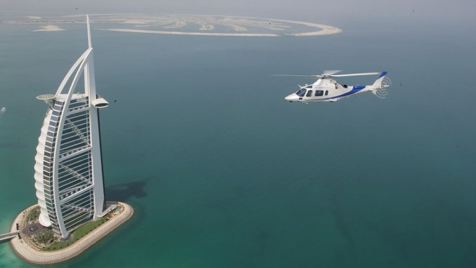 LAND WITH A HELICOPTER ATOP BURJ AL ARAB, DUBAI