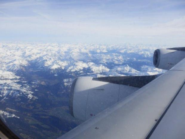 VIEW OF ALPS AFTER TAKE OFF