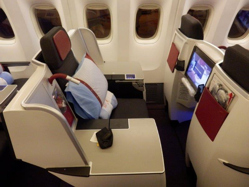 Austrian Airlines B777 Business Cl Bangkok to Vienna - the ...