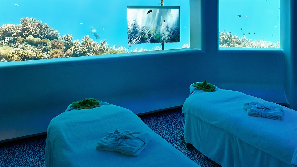 Underwater hotel Manta Per Aquum Huvafen Fushi Maldives Colourful Rebel Blog Top10 Best Underwater Hotels In The World The Luxury Travel Expert