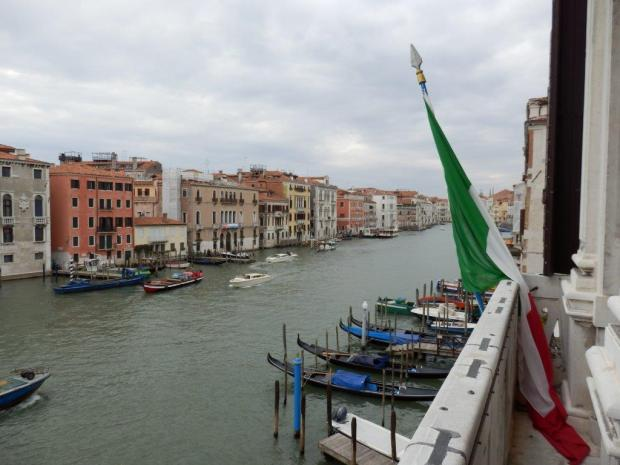 VIEW FROM THE BALLROOM BALCONY ON THE CANAL GRANDE