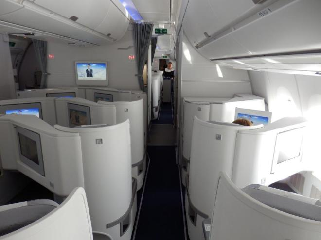 THE SMALLER BUSINESS CLASS CABIN