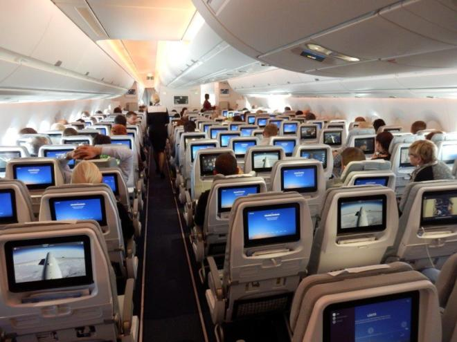 ECONOMY CLASS DURING FLIGHT