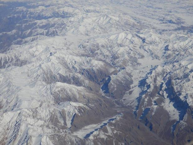 SCENERY WHILE FLYING ABOVE AFGHANISTAN