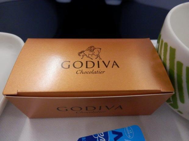 DINNER: GODIVA CHOCOLATES