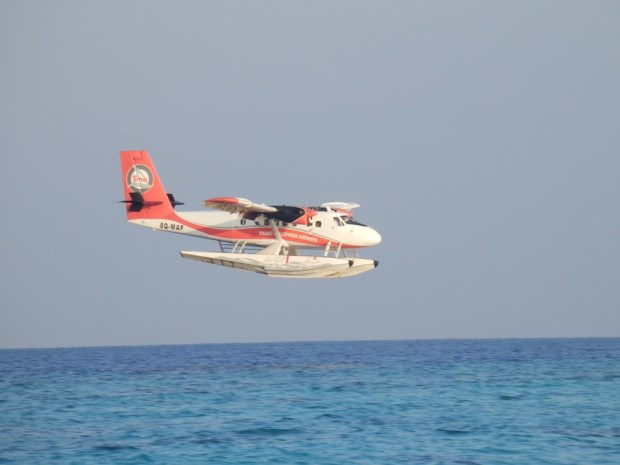 WATERPLANE LANDING NEAR SONEVA FUSHI